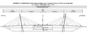 Vázlatterv Határcsárda ferde kábeles híd