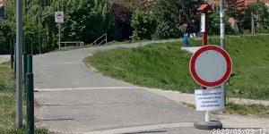 A kerékpárút figyelmeztetőtábláját sokan nem veszik komolyan
