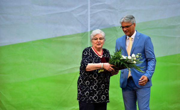 Pro Urbe Emlékérem kitüntetésben részesült dr. Bodonyi Valéria, a város valamikori tanácselnök-helyettese.