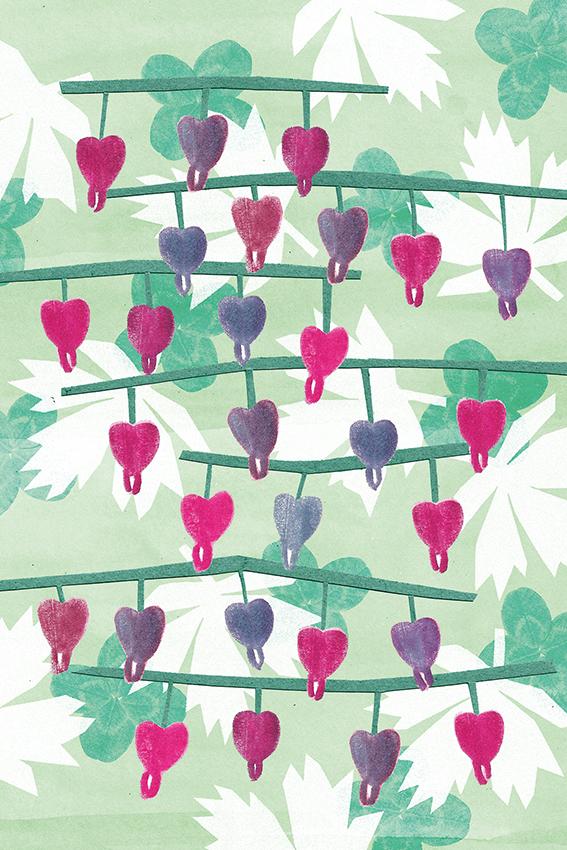 Szívvirág - Másik Zsófi grafikája