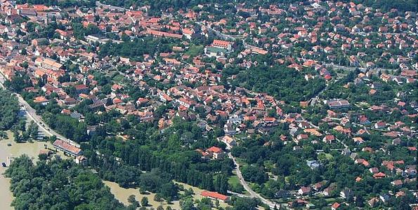 légifotó Szentendre